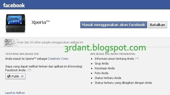 Bagaimana Cara Mendapatkan Access TOKEN Facebook - 3rdant.blogspot