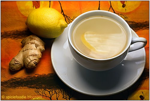 ginger tea ingredients, winter drinks, lemon, ginger, tea, honey, nausea, circulation, inflammation, upset stomach, indigestion, arthritic pains,sore throats, cures, treatment, natural, no caffeine,Ginger Lemon and Honey Tea,recipe