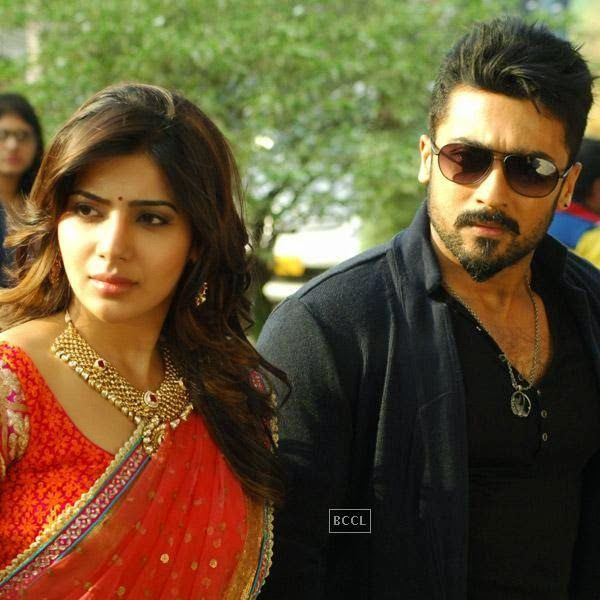Samantha and Suriya in a still from Telugu movie Sikander. (Pic: Viral Bhayani)