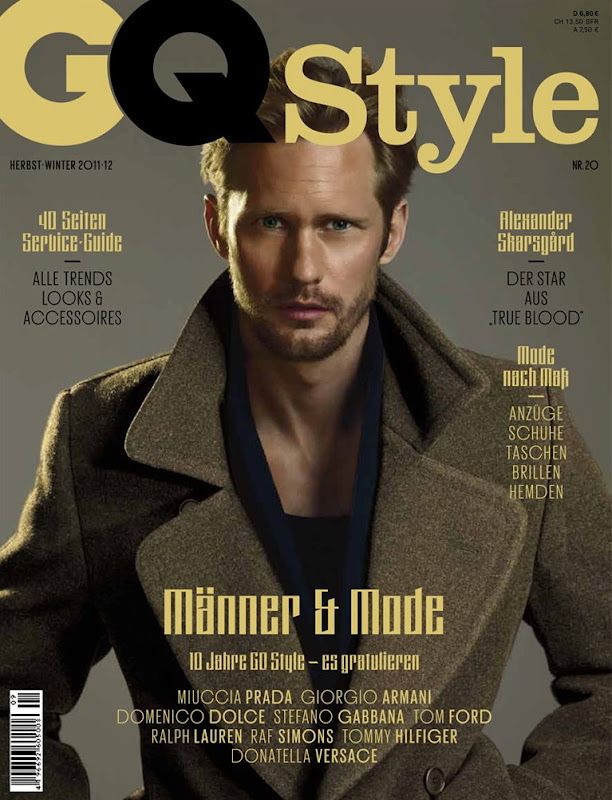Alexander Skarsgård by Ralph Mecke for GQ Style Germany, F/W 2011