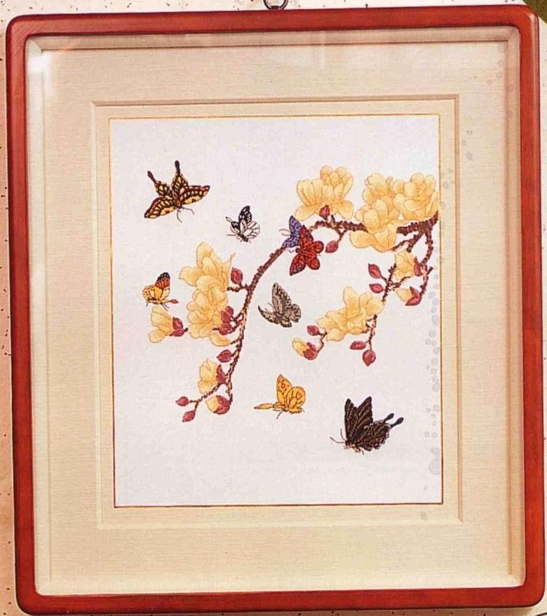 """Схема вышивки крестом """"бабочки"""