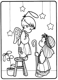 Coloring pages nativity play precious moments coloring for Precious moments nativity coloring pages