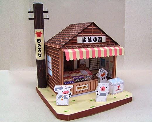 Penny Candy Store Papercraft Dagashiya