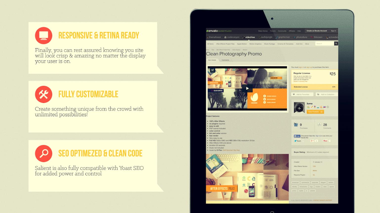 Flat Website Presentation - 4