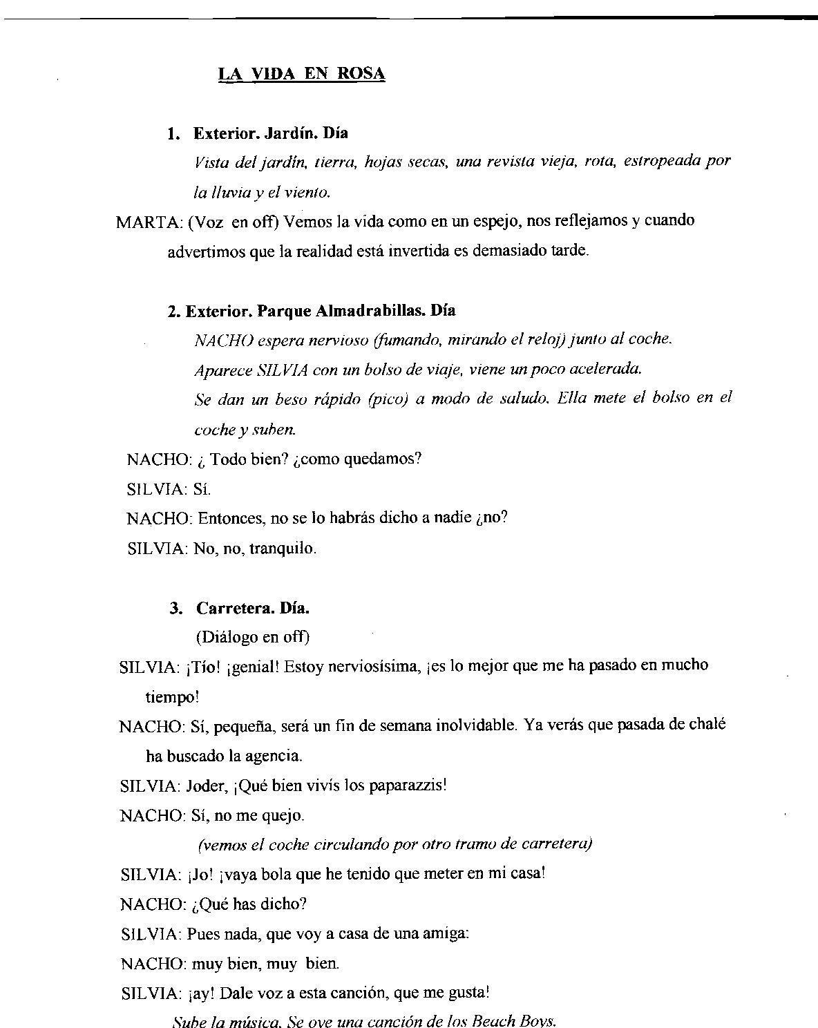 Letras y otras artes: Cortometraje: u0026quot;La vida en rosau0026quot;