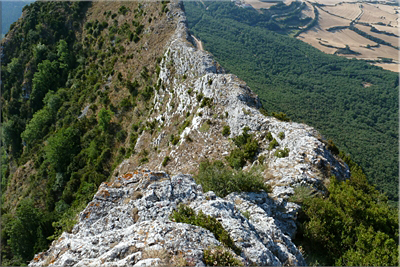Vista de la cresta superada
