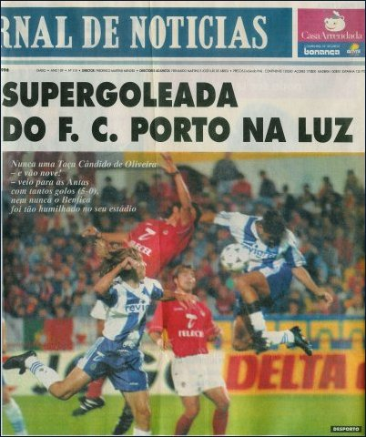 JN: Supergoleada do FC Porto na Luz