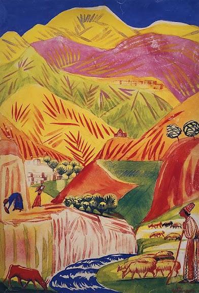 Martiros Saryan - Flamboyant landscape, 1933