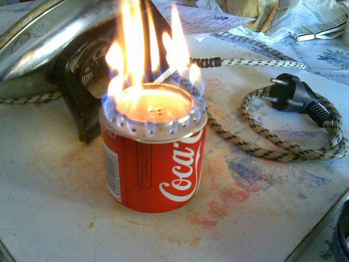 Como hacer un fogon de cocina con dos latas