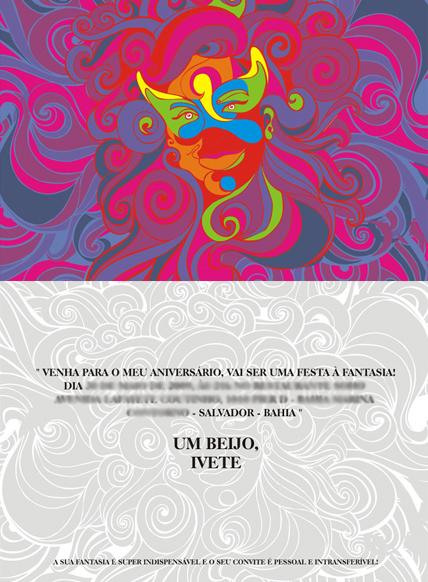 Blog Silvia Tanes Realizando Sonhos Festa à Fantasia Convites