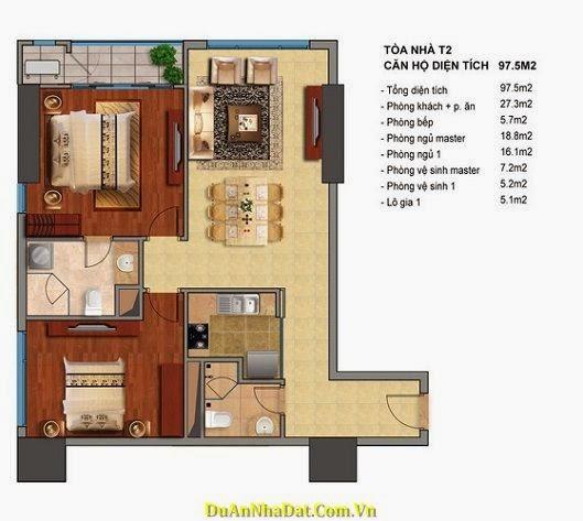 Bán chung cư Times City T2 T3 căn hộ 97.5m2