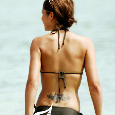 jessica alba lower back tattoo