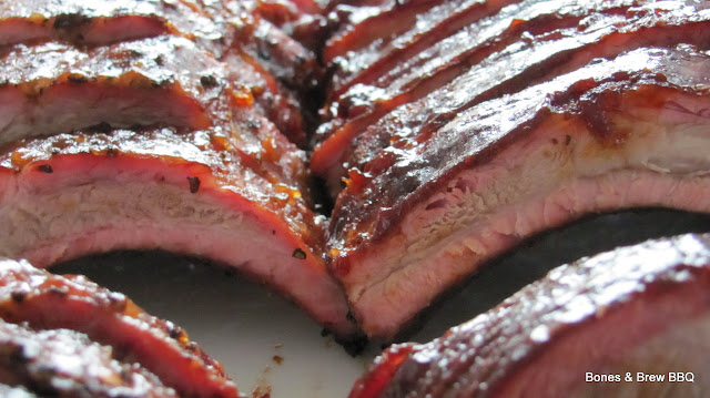 Back Ribs Sliced and Ready to Serve