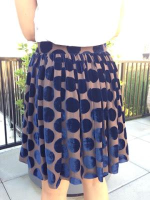 Charles Anastase Velvet Polka Dot Skirt - ShopMyCloset