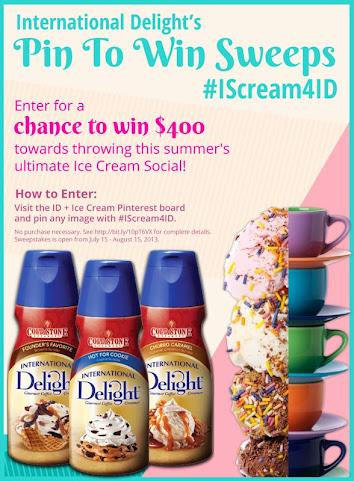 International Delight Pinterest #IScream4ID Contest