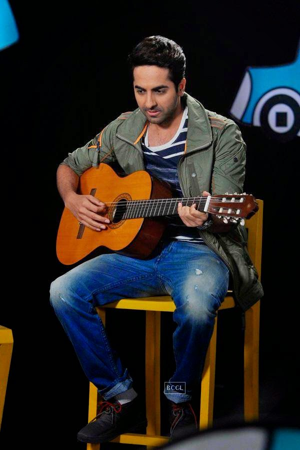 Ayushmann Khurrana on the sets of Disney's kids chat show Captain Tiao in Mumbai. (Pic: Viral Bhayani)<br />