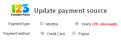 Update Payment Source