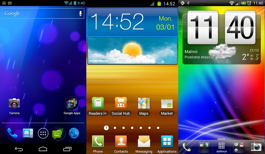 Android Homescreens