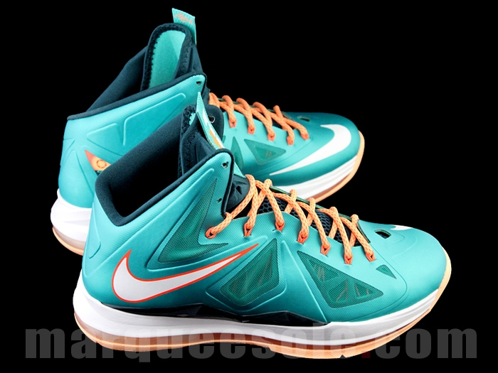 new product d00b2 976be First Look at Nike LeBron X (10) Miami Dolphins   NIKE LEBRON - LeBron  James Shoes
