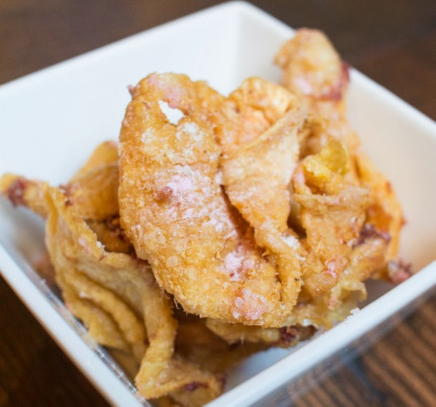 Crispy Chicken Skin, Salt, Sherry Vinegar