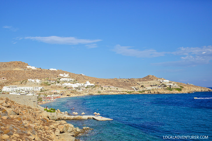 Paradise Beach Mykonos Greece.