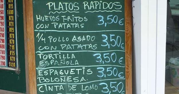 Salmorrejo precios de platos r pidos en madrid de for Platos rapidos