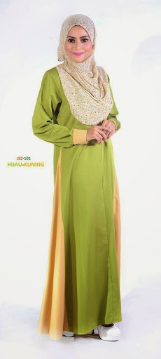 Jubah Nursing Friendly Breast Feed Menyusu Lavenzi Cotton Online Murah Hijau Kuning