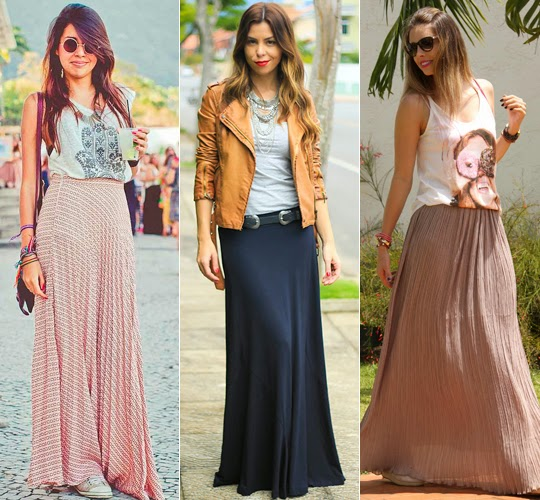 baixinhas podem usar saia longa