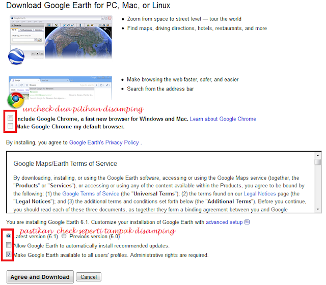 cara download google earth offline