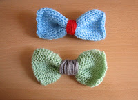 lazos de punto/knitted bows