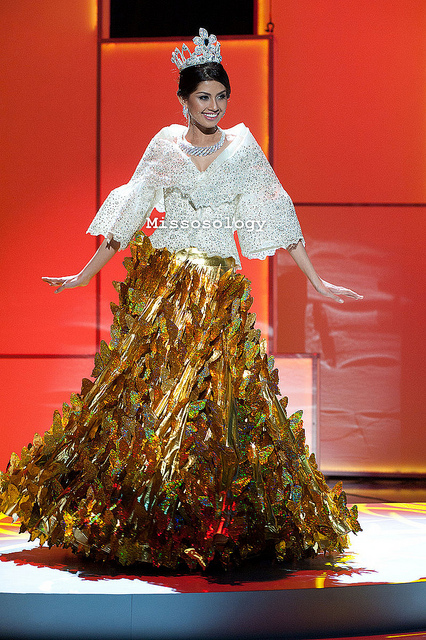 Shamcey Supsup in National Costume