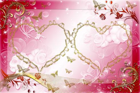 برواز فوتوشوب للصور - قلب العاشقين Lovers%2520Heart