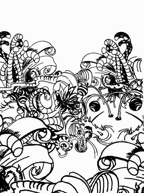 Creating Line Designs : The helpful art teacher a garden of rhythmic lines