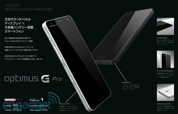 ドコモ LG Optimus G Pro L-04E