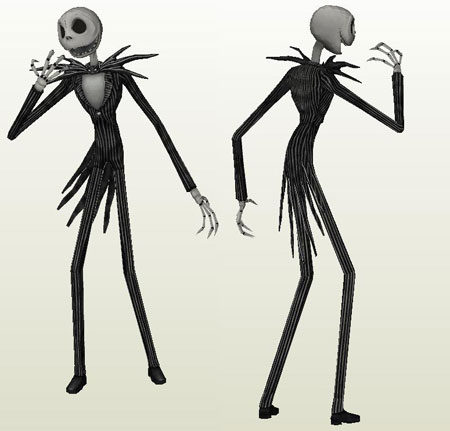 Lifesize Jack Skellington Paper Model