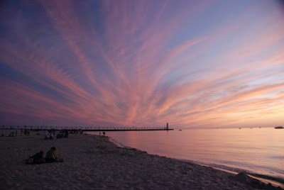 Lake Michigan Beach in Manistee, Michigan