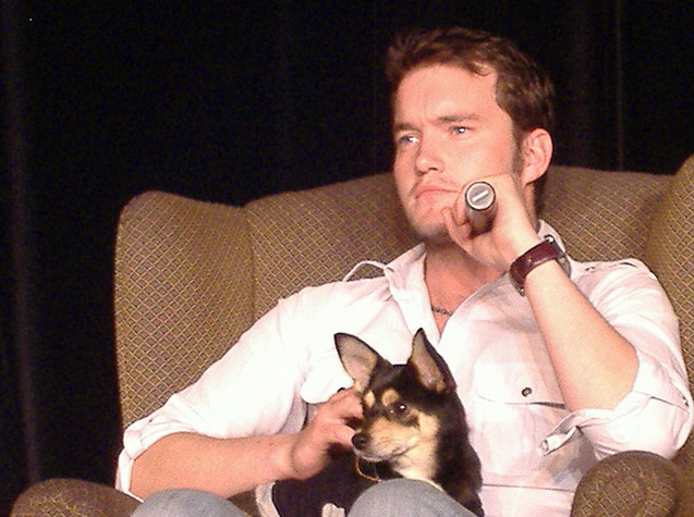 Gareth David Lloyd and a dog