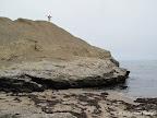 Atop the climbable rock