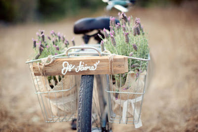 bike with lavender