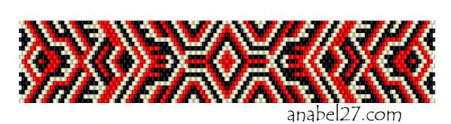 Схема плетения браслета мозаика из бисера