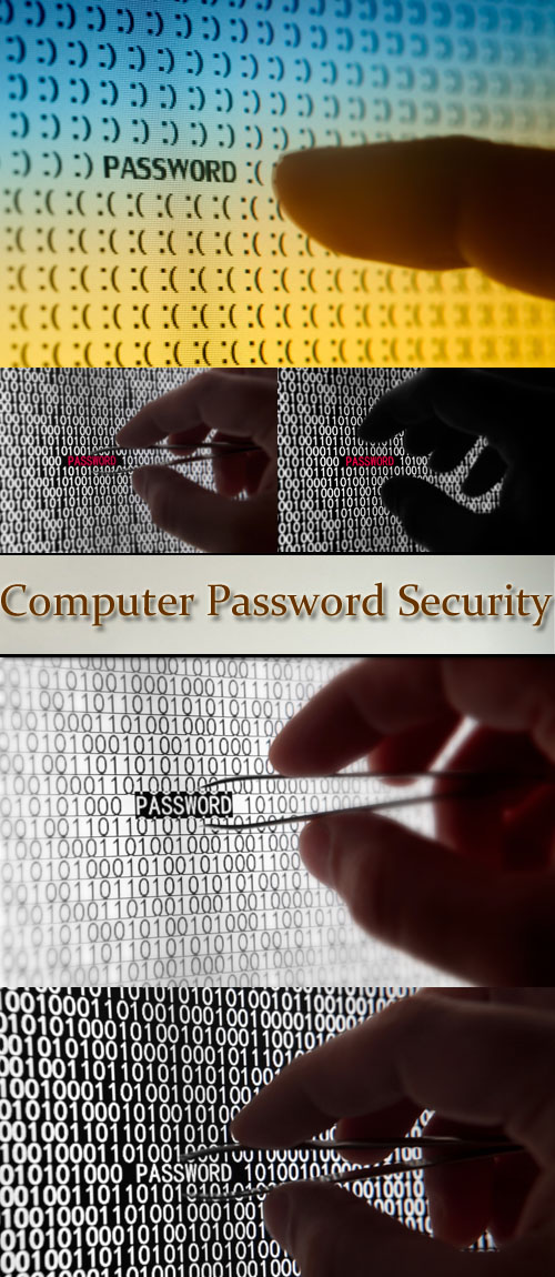 Stock Photo: Computer Password Security