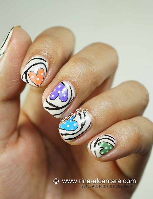 Nail Art: Heart Candies