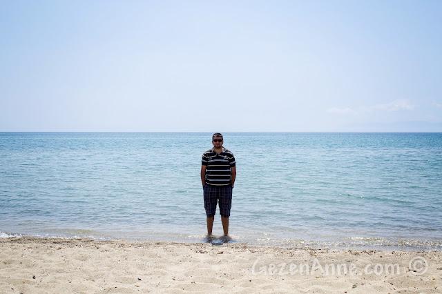 Ayvalık Sarımsaklı plajında
