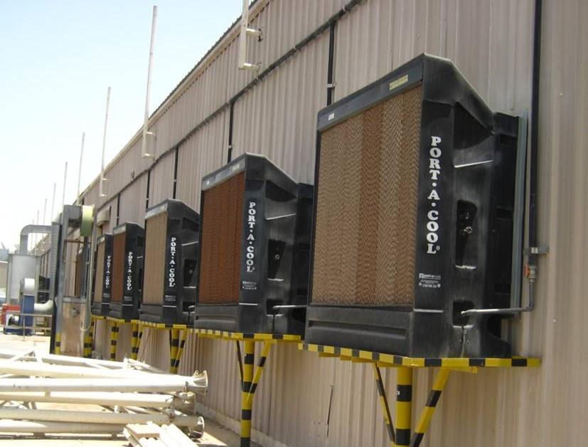 Evap Cooler Installation : Port a cool quot evaporative cooler installation adiabatic