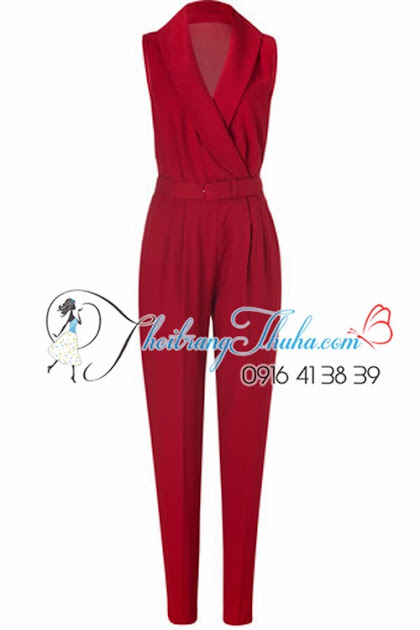 Jumpsuit Đồ Bay Đỏ Meley Cyrus