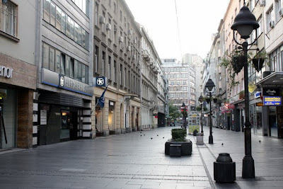 Main shopping street in Belgrade Serbia
