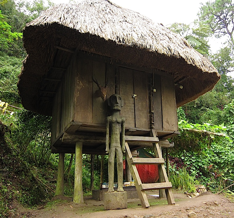 hut with bulol in Tam-awan Village in Baguio City