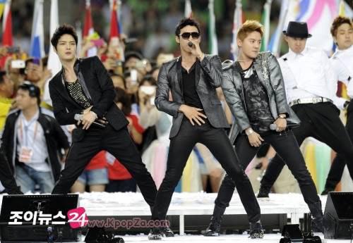 ทั่วโลกรับชม JYJ ปิดงาน '2011 Daegu IAAF World Championships'