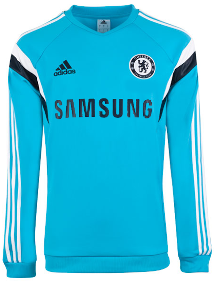 Sweater Pre Match Chelsea Light Blue 2014-2015