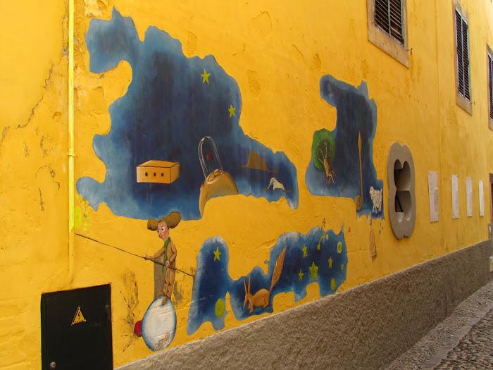 dream wall - Santa Maria street in old town